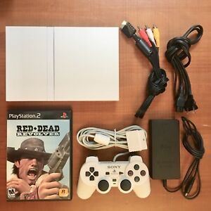 PS2 PlayStation 2 White System Bundle