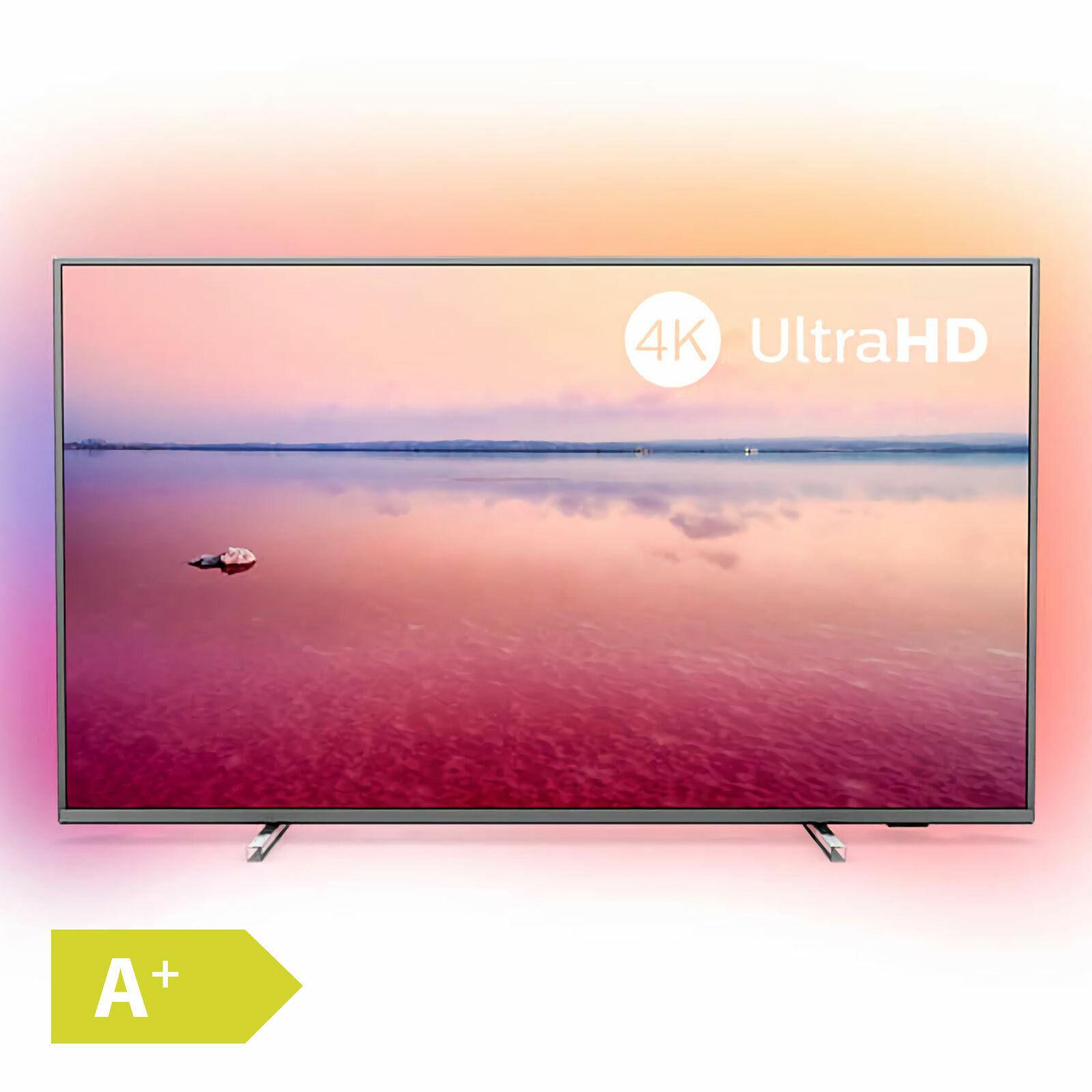 Philips 126cm 50 Zoll Ultra HD 4K LED Fernseher Ambilight HDR Smart TV PVR