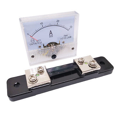 Us Stock Analog Panel Amp Current Ammeter Meter Gauge 85c1 0-30a Dc Shunt