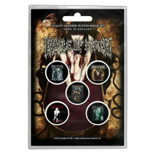 Cradle Of The Filth Buttons Pack Of 5 - Music Band Officially Licensed BB44