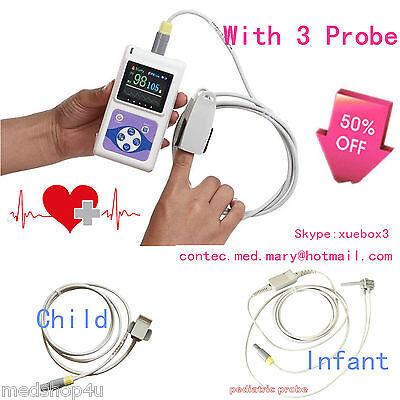 Contec Cms60d Oled Finger Pulse Oximeter With 3 Probesadultinfantchildcefda