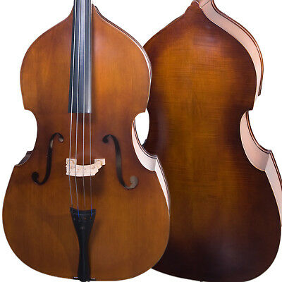 Cecilio Size 4/4 Flamed Acoustic Upright Double Bass +Case+Bow ~4/4CDB-200