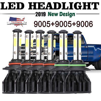 6x 9006 9005 LED Headlight 9145 Fog Light for Chevrolet Silverado 1500 2003-2006