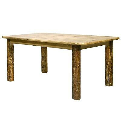 Rustic Log Dining Room Tables 6 ft Kitchen Table Amish Made Lodge Cabin Style Log Dining Room Furniture