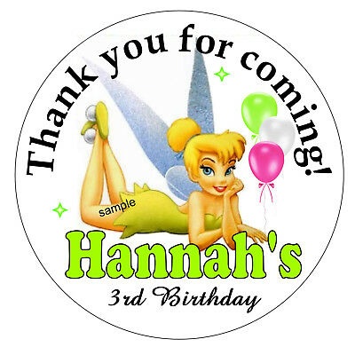 20 TINKERBELL BIRTHDAY PARTY FAVORS STICKERS LABELS FOR YOUR PARTY FAVORS - Tinkerbell Favors