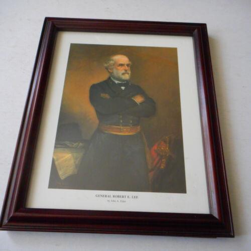 Framed Photo  Of ROBERT E LEE BY JOHN ADAMS ELDER