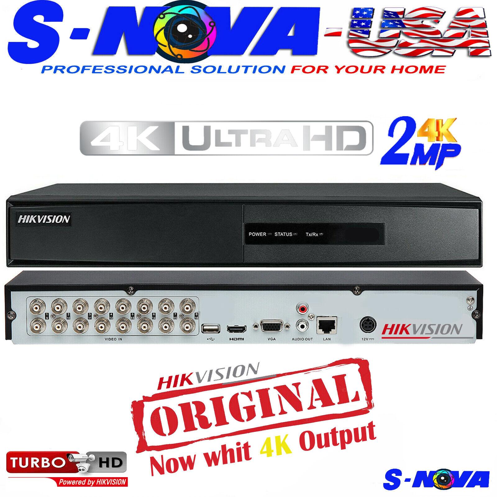 Hikvision DVR Turbo DVR HD TVI 4/8/16 Channel 1080P TVI/AHD/