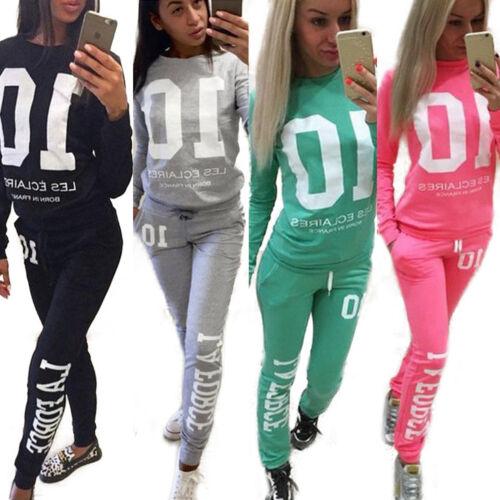Damen Trainingsanzug Kapuze Tracksuit Sets Pullover Hose Jogginganzug Sportanzug