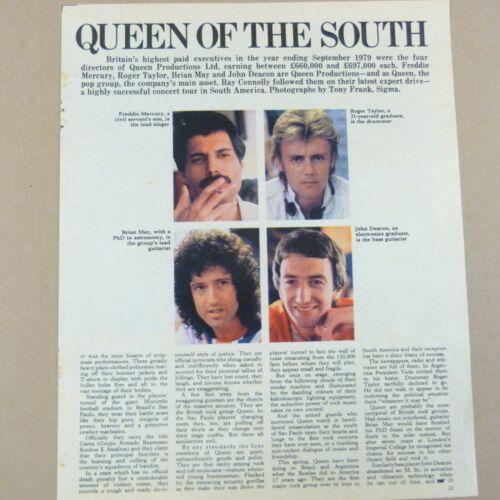 QUEEN magazine cutting SOUTH AMERICA TOUR 1980