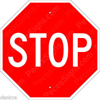 """STOP SIGN - NEW ALUMINUM SIGN - 12"""" X 12"""" Street Sign - Made in USA by US Vets"""