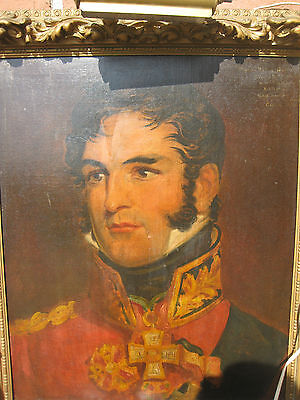 Portrait of Leopold I, King of Belgians, oil painting on canvas, circa 1820