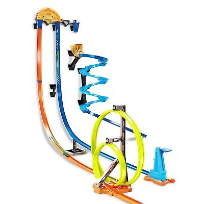 Kids Toy Hot Wheels Race Track Builder Vertical Launch Kit with 3-Configurations