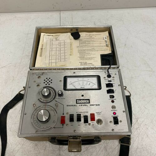 Sadelco VHF Cable Signal Level Meter tested and Working
