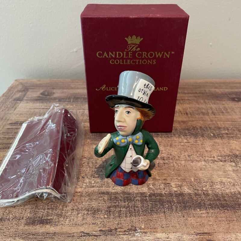 Candle Crown Collections Dept 56 ALICE IN WONDERLAND MAD HATTER Snuffer #50028