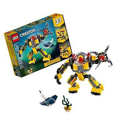 LEGO Creator 3in1 Underwater Robot 31090 Building Kit , New 2019 (207 Piece)