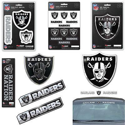 Nfl Oakland Raiders Premium Vinyl Decal   Sticker   Emblem   Pick Your Pack