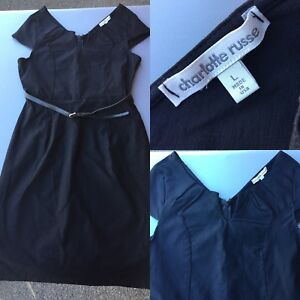 Black fitted Charlotte Russe Dress