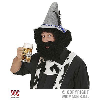Charakter Perücke Bart schwarz für Bauer, Bayer, Wilderer, Jäger Kostüm Zubehör