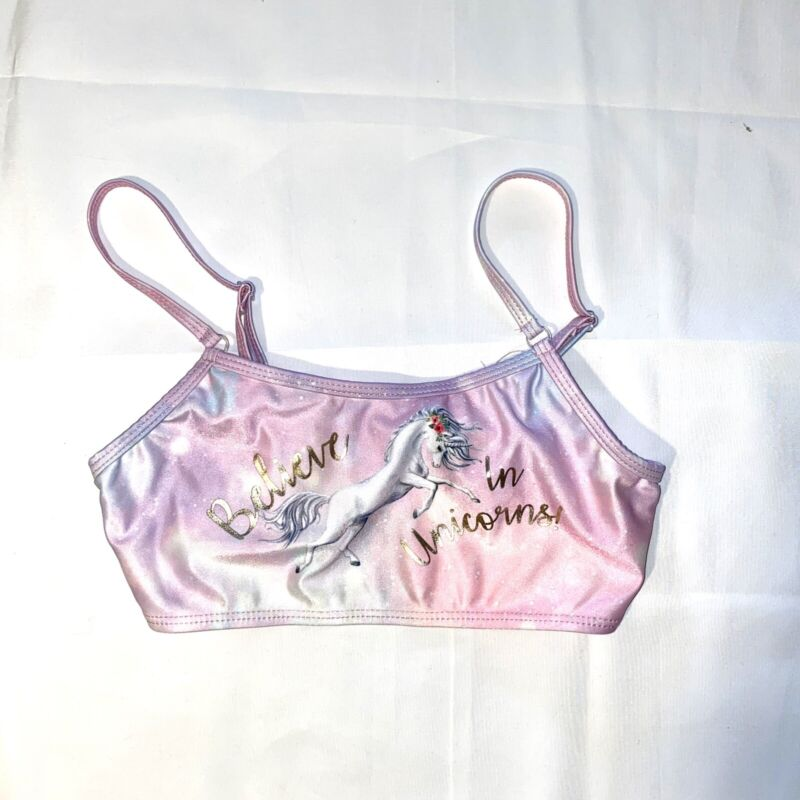 delia*s girl sports bra Size 10/12 Unicorns Pink/Purple