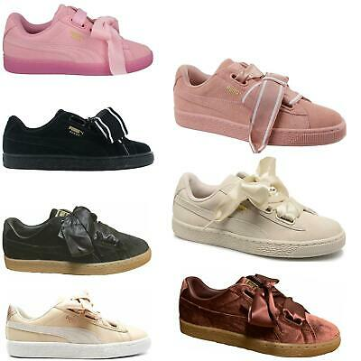 Puma Suede/Leather Heart Womens Trainers~CLEARANCE