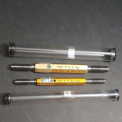 Alameda M10 X 1.5 M8 1.25 6g Thread Gage Go No Go Plug Gauge Machinist Tool