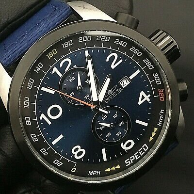 INVICTA Aviator Men's Quartz Chronograph Watch 19411 Blue Face