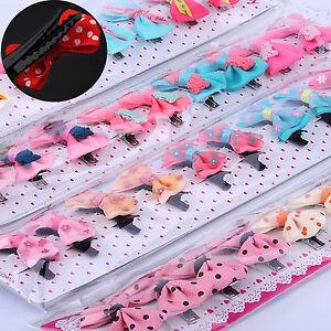 50Pcs Baby Toddler Girl Hair Clips Ribbon Bow Kids Satin Bowknot Headband Salon
