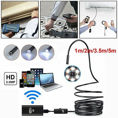 5 meter Wifi Inspection Camera, 720P 8mm Wireless Endoscope For iPhone Android