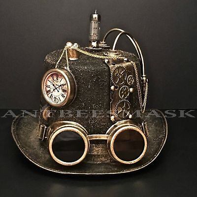 Mens Costume Hats (Steampunk Victorian Design Cosplay Costume Burning Man Unisex)