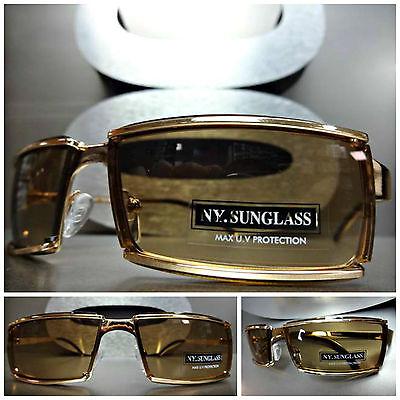 Männer oder Frauen Einzigartig Trendy Moderne Stil Sonnenbrille Sleek Goldrahmen