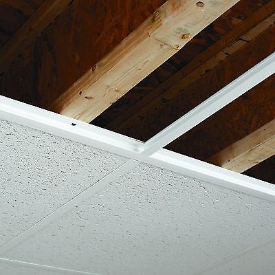 CeilingMAX 100 sq. ft. White Surface Mount Ceiling Grid Kit