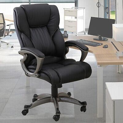 Ergonomic High Back Office Chair Executive Computer Desk Swivel Armrest Black