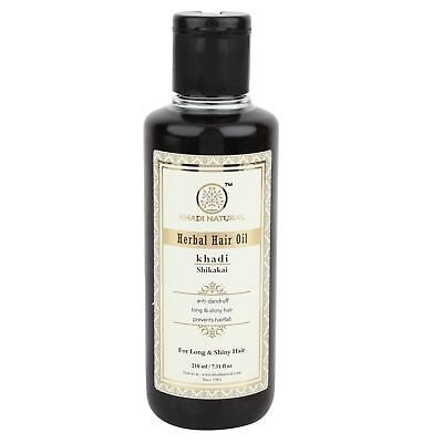Khadi natürliches Kräuter Shikakai Haar-Öl für gesunde Haare - 210ml Packung 2
