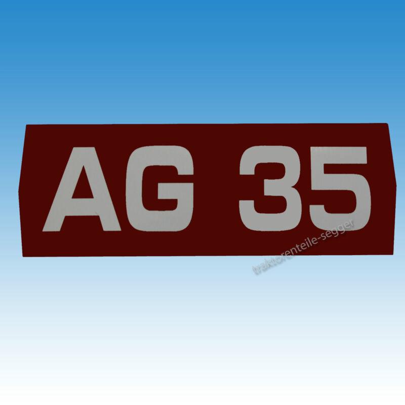 Holder Typenaufkleber Aufkleber für Holder AG 35 Traktor Schlepper 01537 Foto 1