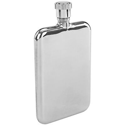 Ultra Thin Slim Premium Stainless Steel Flask, 1.5-Ounces, Chrome Silver Shots Bar Tools & Accessories