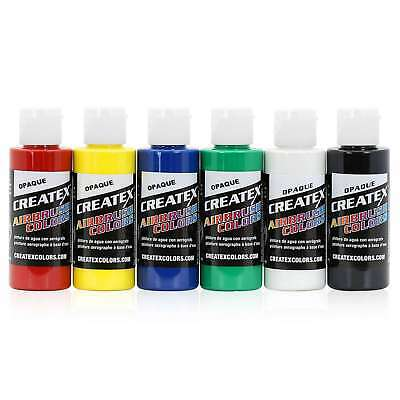 Createx Colors Airbrush Paint Primary Opaque Set 5803-00 - 6 Colors - 2 oz