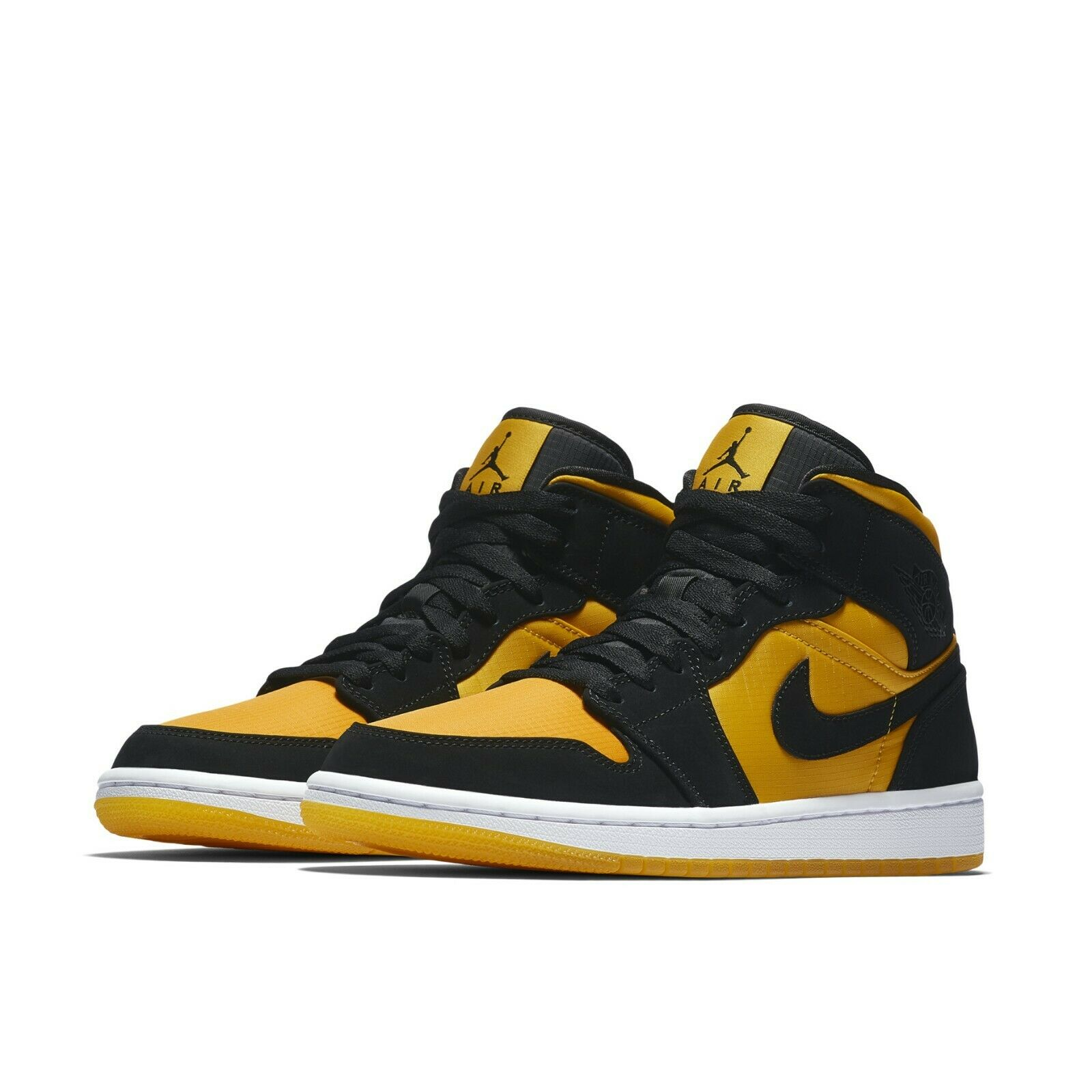 best service 2b0af 674c9 Details about Nike Air Jordan 1 Mid SE GC University Gold Black Yellow Taxi  AJ1 CD6759-007