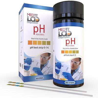 Ph Test Strips 0 To 14 200 Ct For Urine Saliva Drinking Water Kombucha