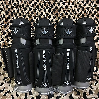 NEW Bnkr Bunker Kings 4+5 Supreme Paintball Pod Pack Harness - Stealth Black