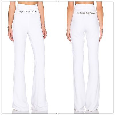 NWT Rachel Zoe Summer White Jolee Tuxedo Flare Wide-Leg Pants, $395