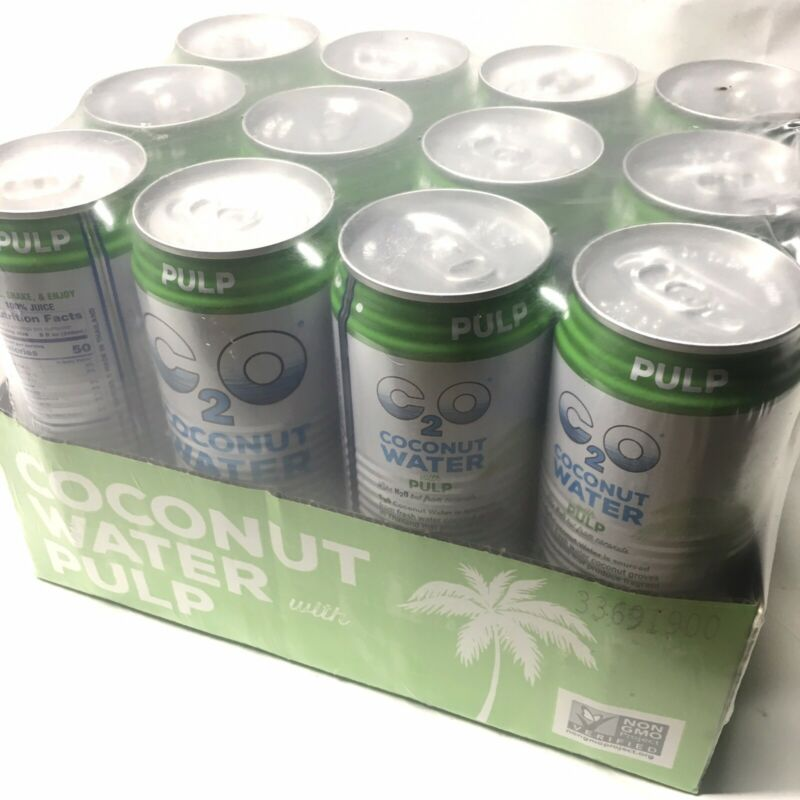 Case of 12 C2O - Coconut Water With Pulp - 17.5 fl. oz. BB 12/2021 LOT