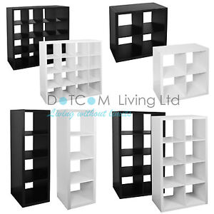 White Black Bookcase Shelf 4 8 16 Tier Storage Display Unit Office Living Room Ebay