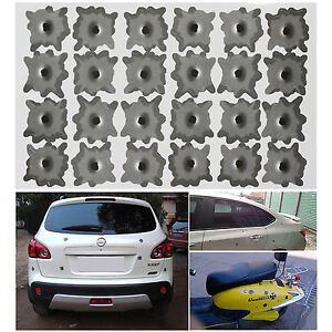 FUNNY-24-HOLES-FAKE-BULLET-HOLE-CAR-HELMET-STICKERS-DECALS-REMOVABLE