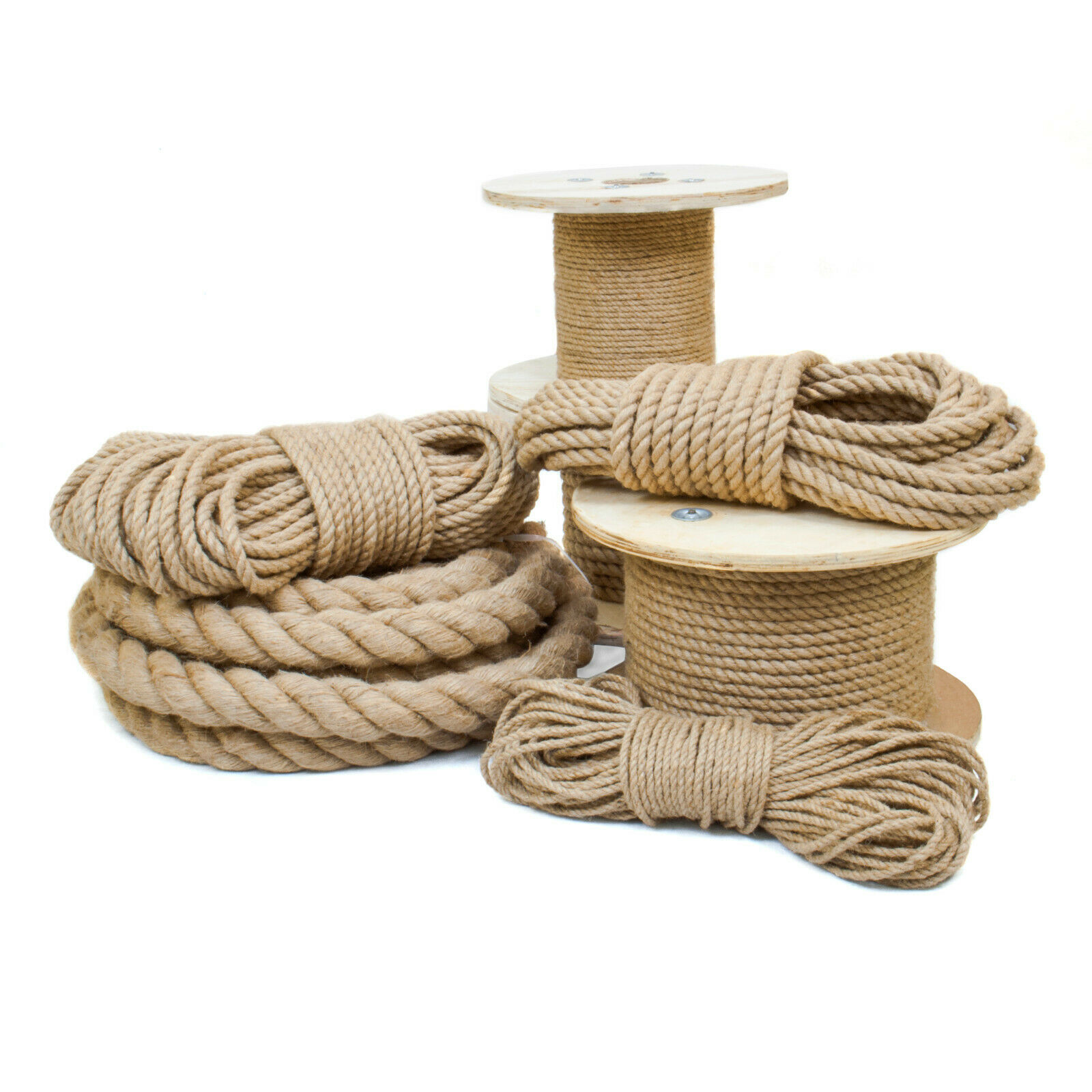 JUTESEIL 6 - 60 mm Dickes Tau Seil Kordel Natur Maritime Dekoration Jute Schnur