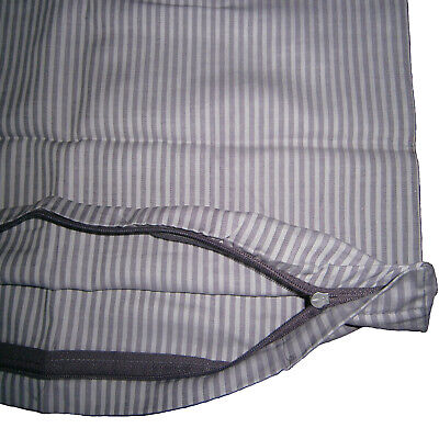 Gestreiften Stoff Kissen (Edel Satin Kopfkissenbezug Kissenbezug Kissenhülle 80x80 cm Gestreift Baumwolle)