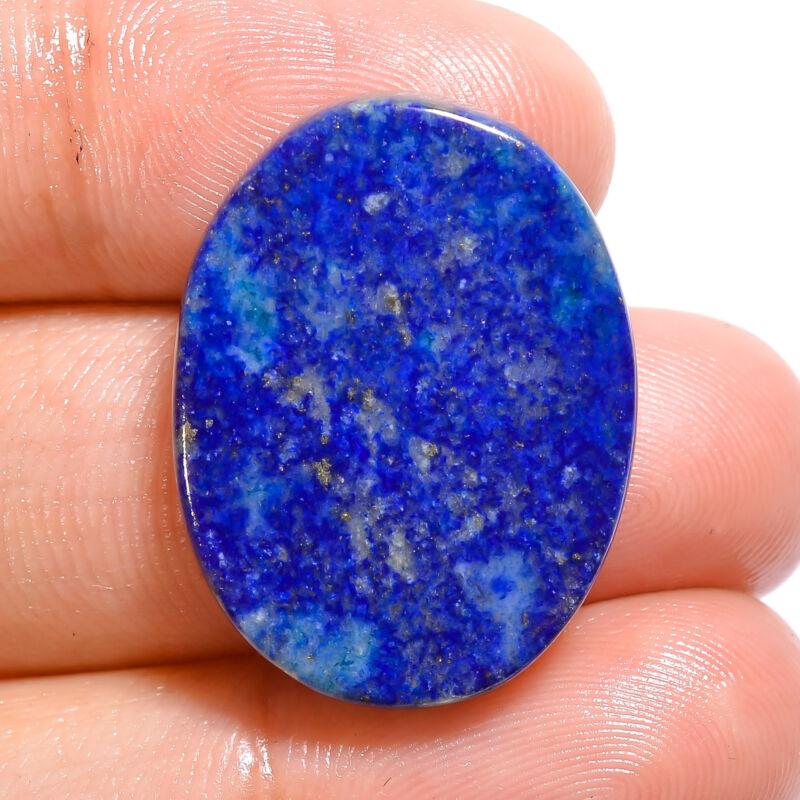 100% Natural Lapis Lazuli Oval Shape Cabochon Loose Gemstone 21.5 Ct. 24X18X4 mm