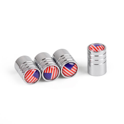 Car Wheel Tire Extended Valve Stem Air Cap Cover America United States Flag UE