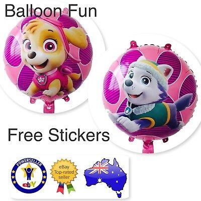 Large PAW PATROL BALLOONS Skye Toys BIRTHDAY PARTY SUPPLIES AUS SELLER Dog Free