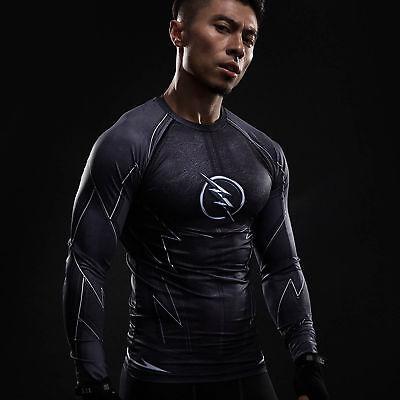 The Flash Hunter Zoom T-shirts Black Long Sleeve Men Raglan Tee Costume ](Black Flash Costume)