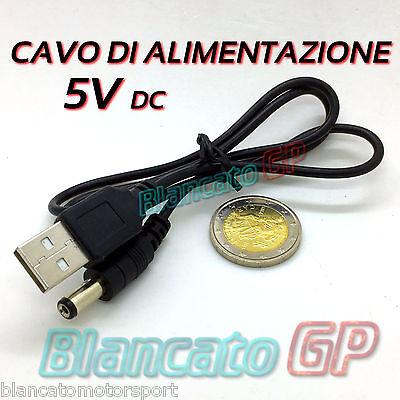 Cable De Alimentación USB Conector Dc 5.5 x 2.1 50cm Jack WD...